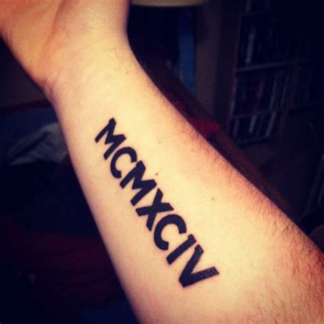 roman numeral forearm tattoo beautiful numeral with letter on wrist