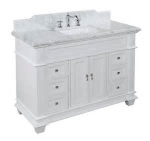 buy elizabeth 48 inch bathroom vanity carrara white