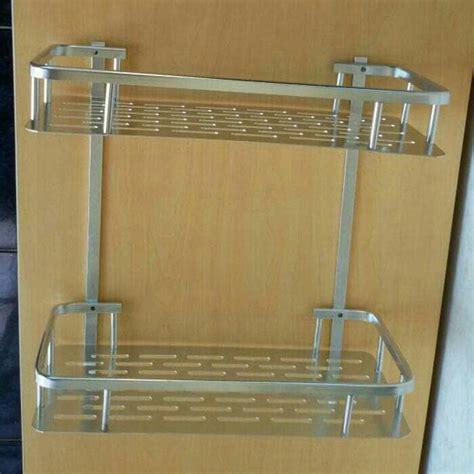 Rak Sabun Sudut Stainless rak sabun alumunium 3 tingkat dengan design simple dan