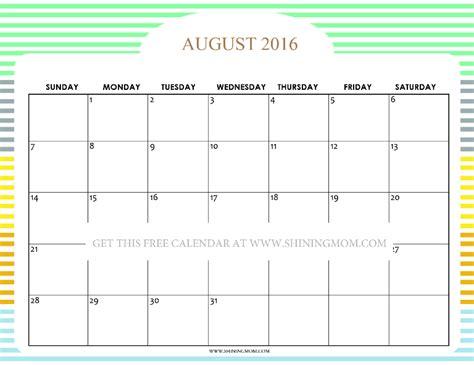 august 2016 calendar pretty printable calendars for august 2016