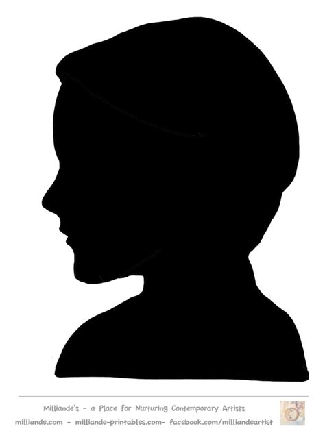 female face silhouette stencils face silhouette collection