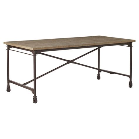 Small Metal Dining Table Gramercy Oak Aged Metal Dining Table Small Oka