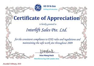 sle certificate of appreciation certificate of appreciation presented by ge gas
