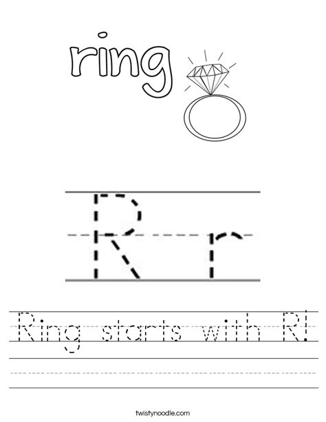 r is for rainbow worksheet twisty noodle ring starts with r worksheet twisty noodle