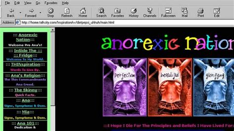 Anorexia Chat Room by The Secret World Of Anorexics