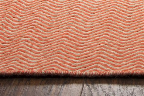 Orange Chevron Area Rug Twist Basic Chevron Wool Area Rug In Orange White 5