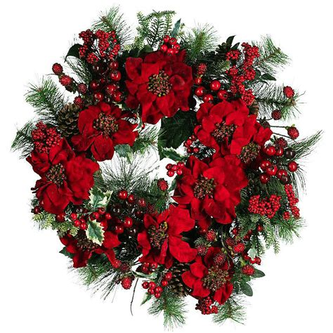 silk holiday decor 24 inch red poinsettia christmas