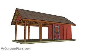 Carport Plans With Storage by Carport With Storage Roof Plans Myoutdoorplans Free