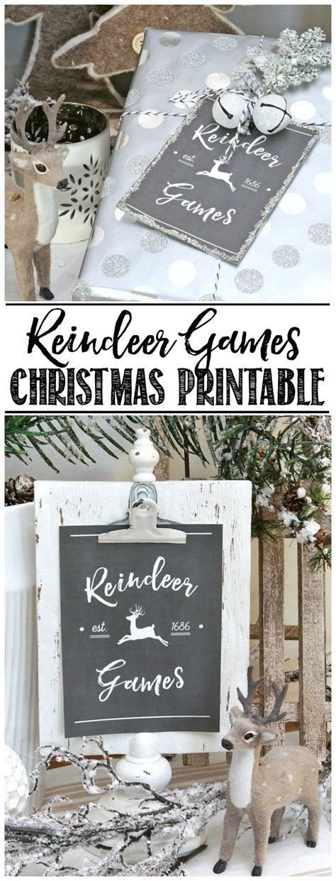 printable reindeer games free reindeer games free christmas printables clean and