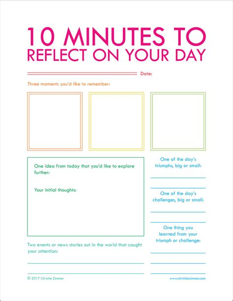 Printables Christie Zimmer 5 Minute Journal Template
