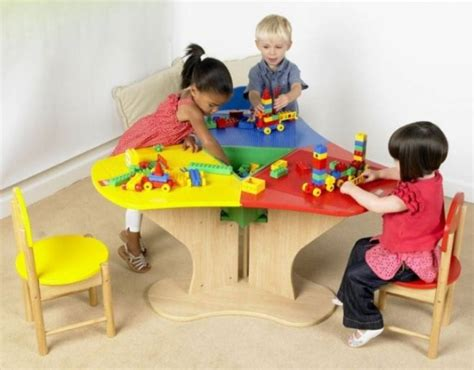lego table with three chairs lego table triangle with storage and three chairs
