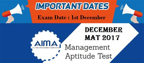 Mat For Mba 2017 Date by Mat December 2017 Check Out Important Dates Here