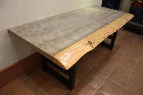 Live Edge Dining Table For Sale Custom Live Edge And Cement Dining Table For Sale At 1stdibs