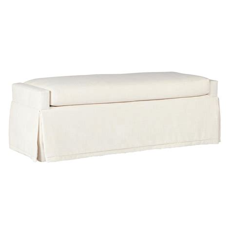 skirted bench sophia modern classic skirted ivory linen bench kathy