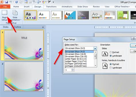 How To Create A Template In Powerpoint 2010 how to make your powerpoint template compatible with widescreen 10 9 tv monitor powerpoint