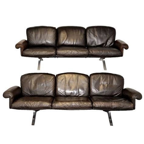 s sede pair of ds 31 sofas by de sede design team for de sede