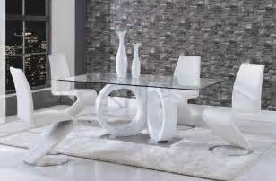 Coaster Dining Room Set contemporary white dining set table and 4 chairs