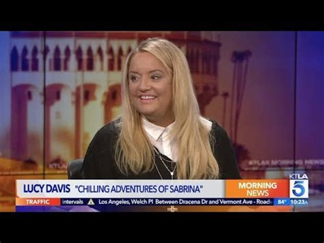 lucy davis youtube lucy davis on the darker quot chilling adventures of sabrina