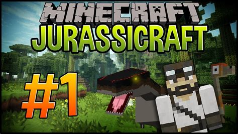 minecraft dinosaurs jurassicraft let s play 1 let s