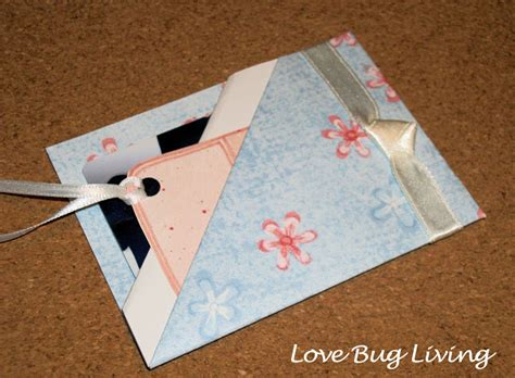 How To Make A Holder Out Of Paper - bug living gift card holder