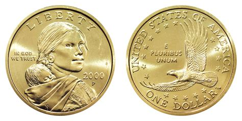2000 p sacagawea dollars quot cheerios dollar quot boldy detailed tail feathers golden dollar value