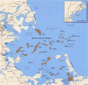 Boston Harbour Map by Hunting New England Shipwrecks
