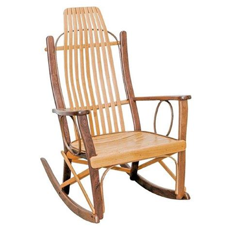 Cherry Rocking Chair - cherry and walnut rocking chair