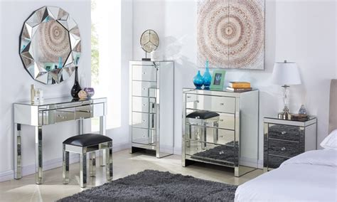 mirrored bedroom furniture groupon