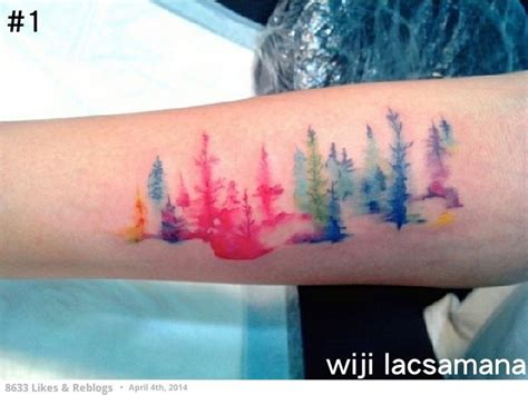 watercolor tattoo artist manila forest by wiji manila philippines abstract watercolor