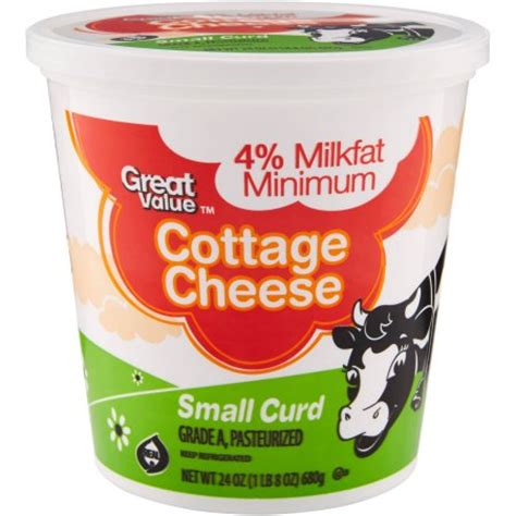 small curd cottage cheese great value small curd cottage cheese 24 oz walmart