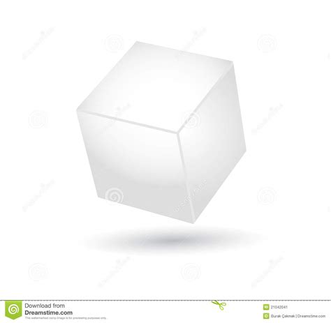 cube vector with 3d effect stock image image 21042041