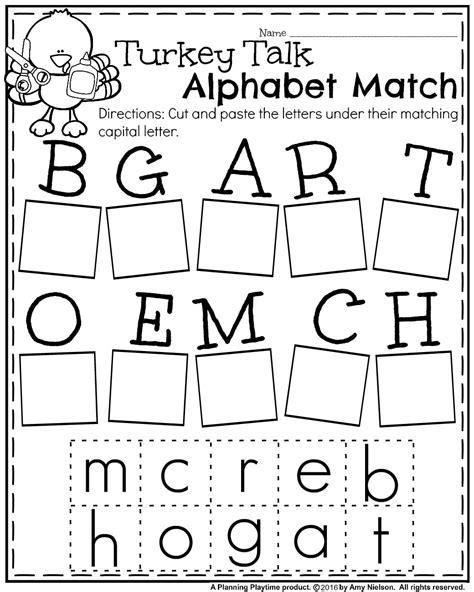 free printable worksheets for kindergarten thanksgiving fall kindergarten worksheets for november planning playtime