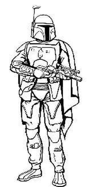 jango fett coloring pages and coloring on pinterest