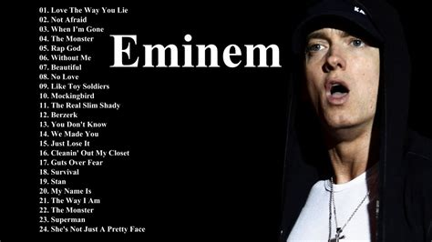 eminem best best of eminem playlist eminem greatest hits list top
