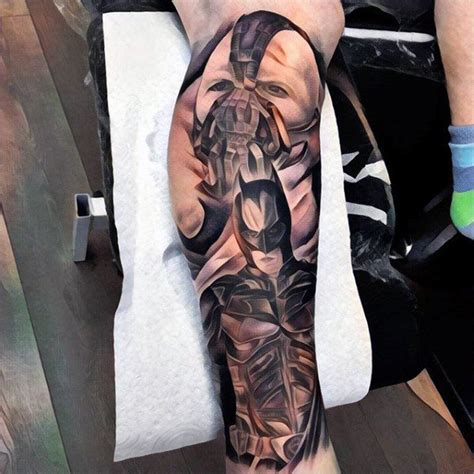 batman punch tattoo 50 bane tattoo designs for men manly ink ideas