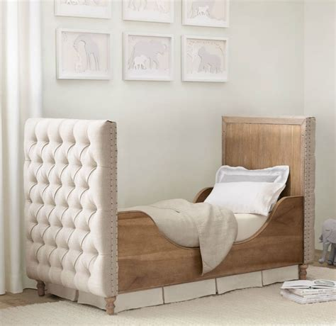 restoration hardware tufted tufted crib from restoration hardware decoist