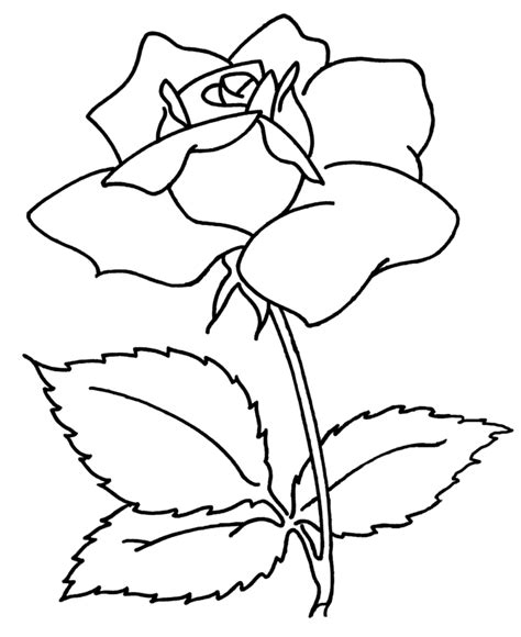 flower coloring pages easy drawing of a simple flower clipart best