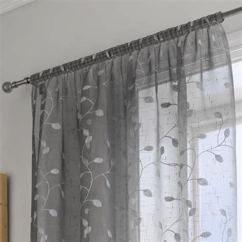 grey voile curtains uk harrogate leaf grey voile panel tonys textiles