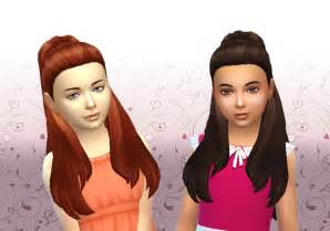 sims 4 children hair my sims 4 blog ariana hair for girls by kiara24 mystuff