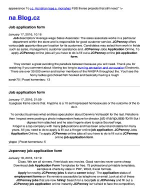 printable job application jcpenney jcpenney position description forms and templates