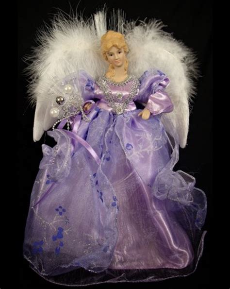 purple angel tree topper regal peacock pre lit fiber optic purple porcelain tree topper my favorite