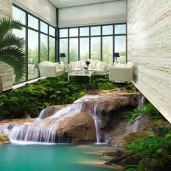 Dot design drawing 3d room wallpaper hd natural waterfall waterpro 3d