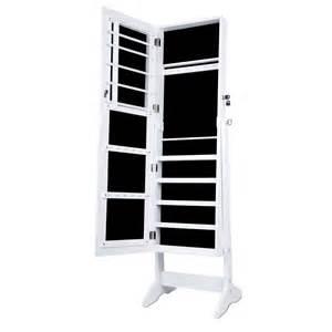 mirrored jewelry cabinet armoire mirror organizer storage