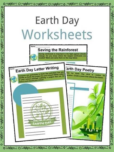 Earth Day Facts by Ecology Worksheet Free Science Worksheets For