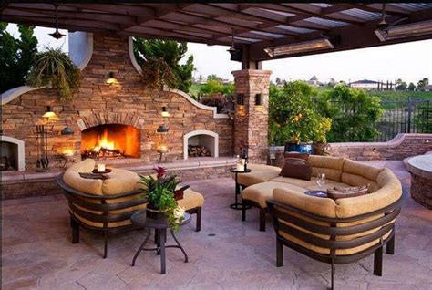 large outdoor fireplace outdoor fireplace