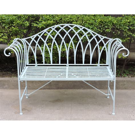 ornate garden benches charles bentley pastel shade wrought iron garden bench