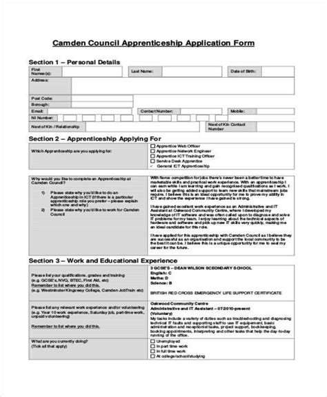 Uk Application Application Forms Exle
