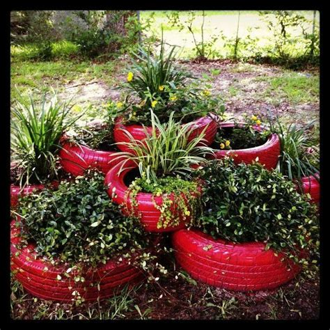 tire flower beds painted tire flower bed gardening outdoor decor