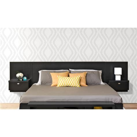 prepac series 9 designer floating king headboard with