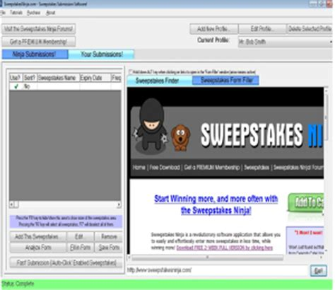 Best Internet Sweepstakes Software - sweepstakes ninja allows you to easily enter more sweepstakes